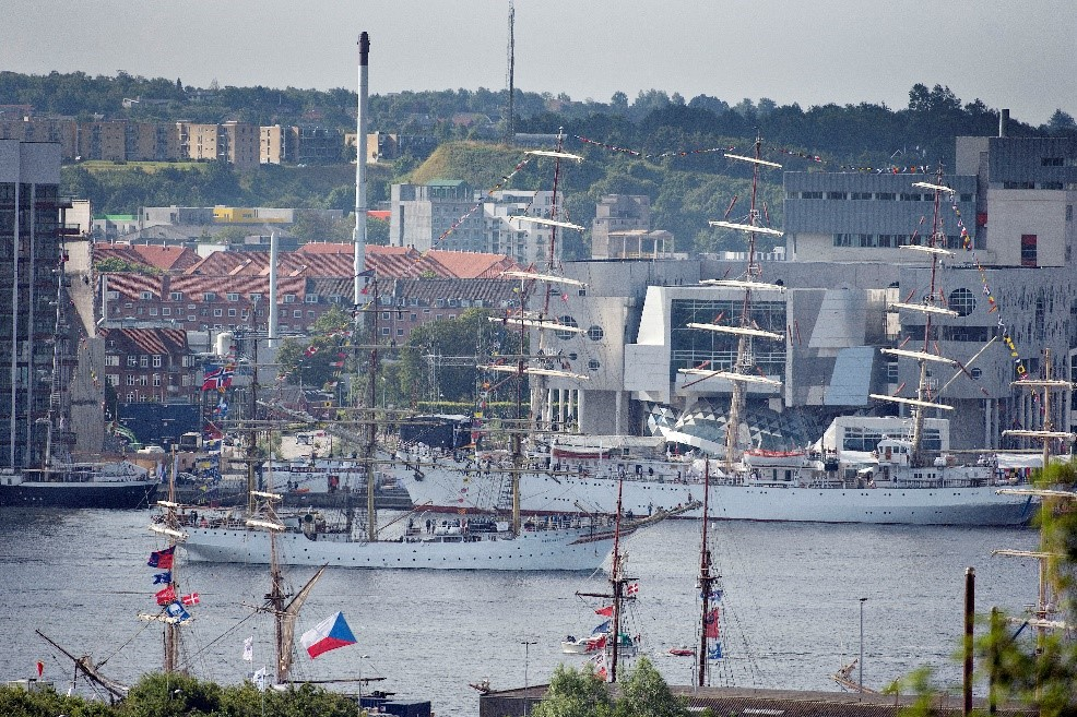 Sailing ships in Aalborg